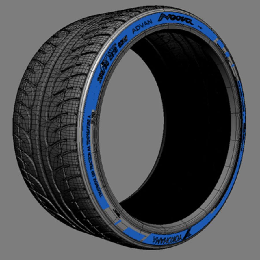 Volk Racing GTS Wheel royalty-free 3d model - Preview no. 3