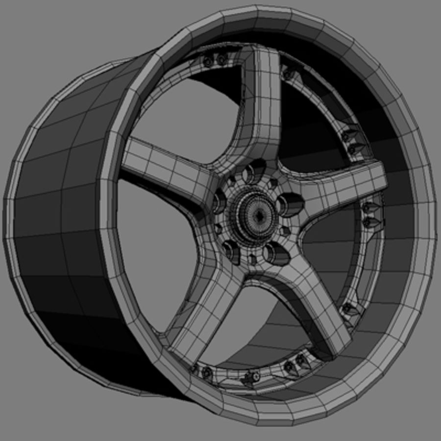 Volts Racing GTS Wheel royalty-free 3d model - Preview no. 8