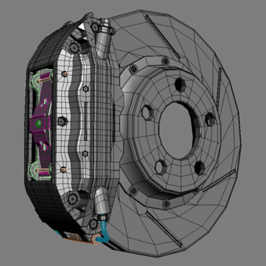 Volts Racing GTS Wheel royalty-free 3d model - Preview no. 4