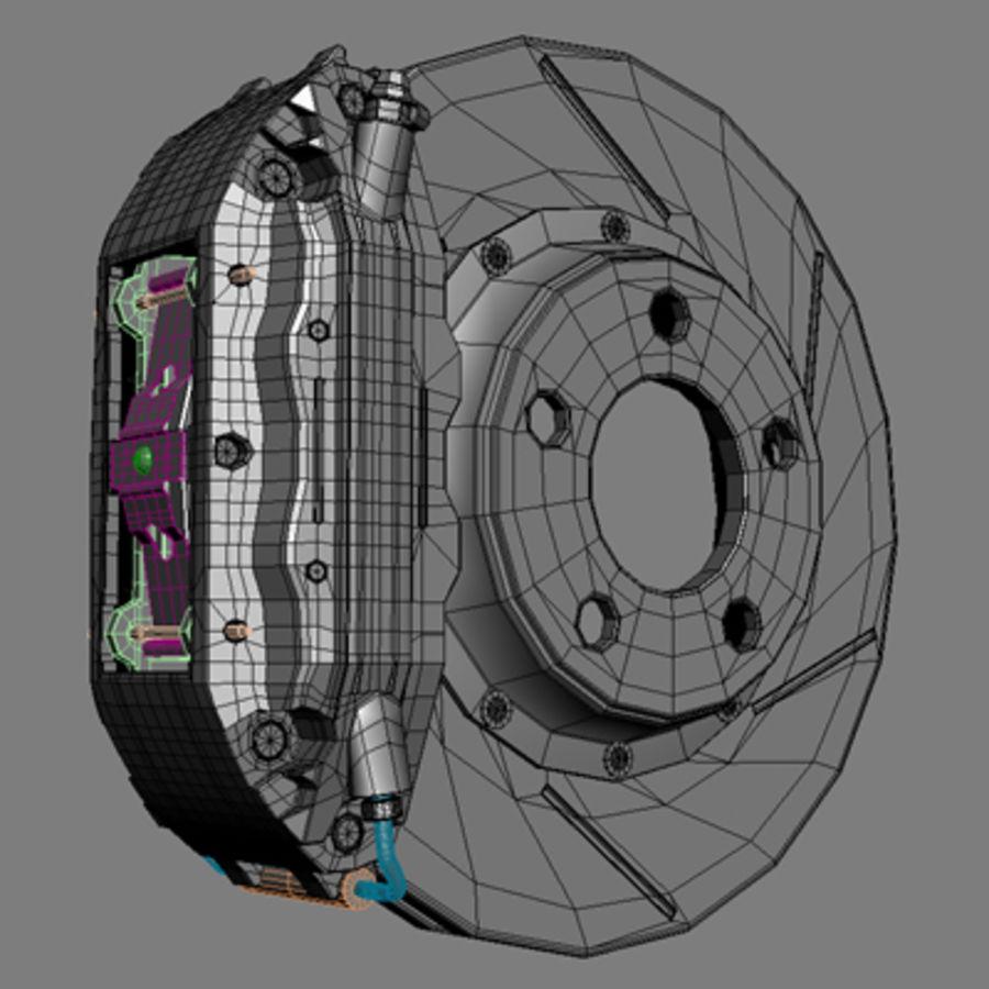 Volk Racing GTS Wheel royalty-free 3d model - Preview no. 4