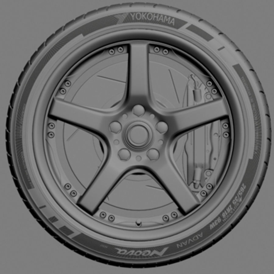 Volts Racing GTS Wheel royalty-free 3d model - Preview no. 6