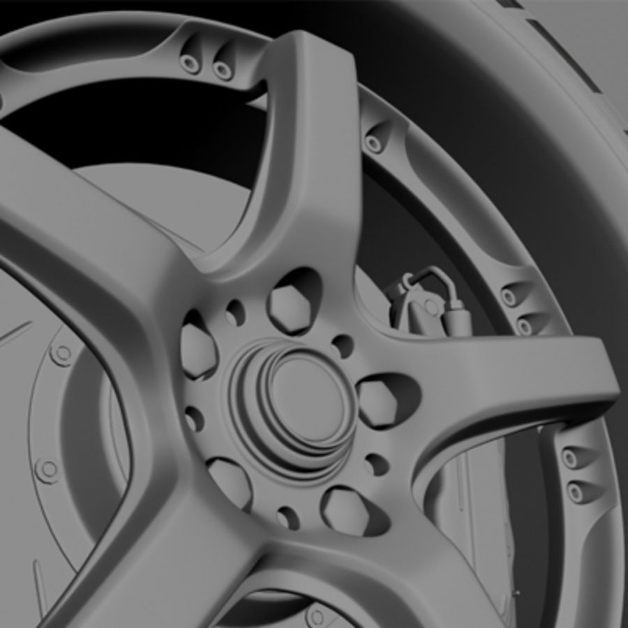 Volk Racing GTS Wheel royalty-free 3d model - Preview no. 7
