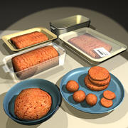 Ground Meat Raw 01 3d model