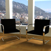 Mies Van Der Rohe BRNO Chair 3d model