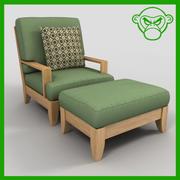 lounge stol med ottoman 3d model