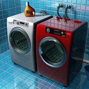 Washer & Dryer 2 3d model