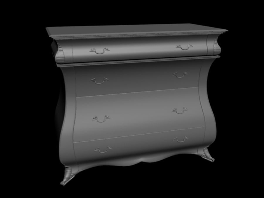Wooden Locker (drawer) royalty-free 3d model - Preview no. 1