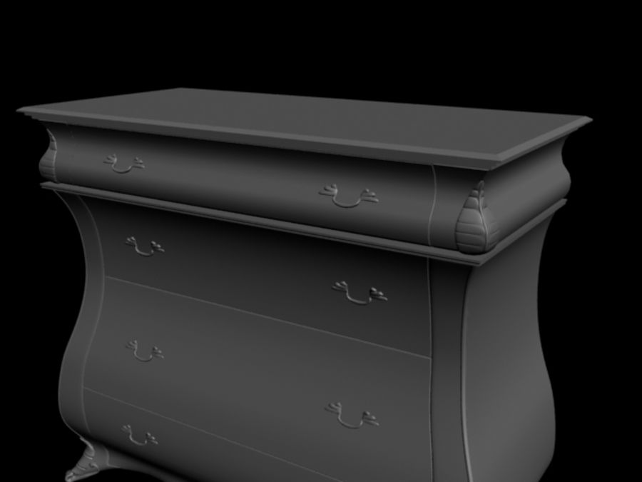 Wooden Locker (drawer) royalty-free 3d model - Preview no. 2