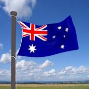 Real flag Australia 3d model