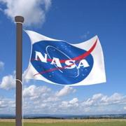 Verklig flagga NASA 3d model
