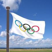 Echte Flagge Olympia 3d model