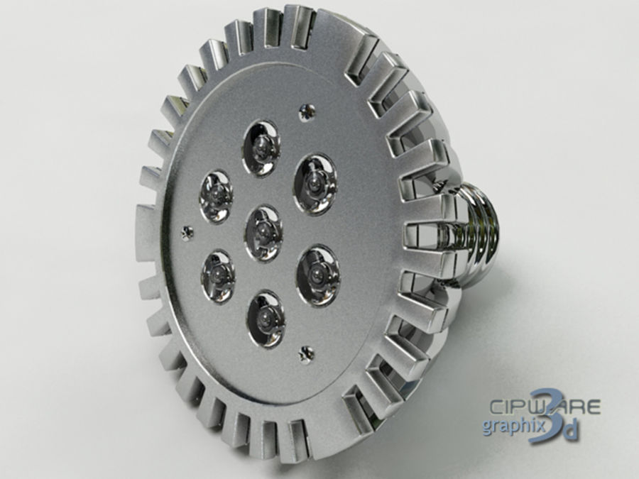 LED Lamp v1 royalty-free 3d model - Preview no. 7