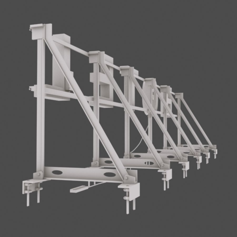 Rooftop Sign Hotel / Casino royalty-free 3d model - Preview no. 6