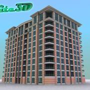 Resort/Hotel/Condo/Apartment - High Resolution 3d model