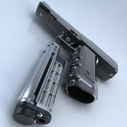 Taktyczny pistolet pneumatyczny - wysoki szczegół 3d model