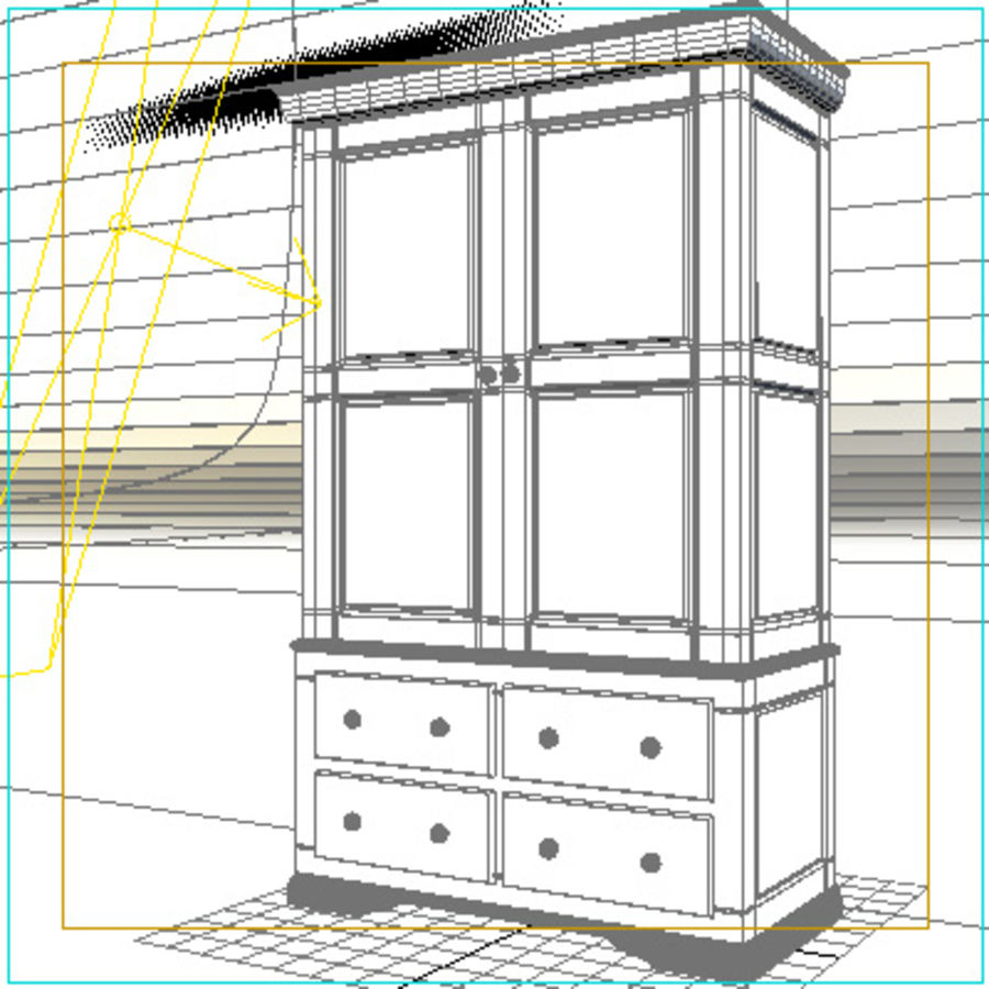 closet3.max royalty-free 3d model - Preview no. 2