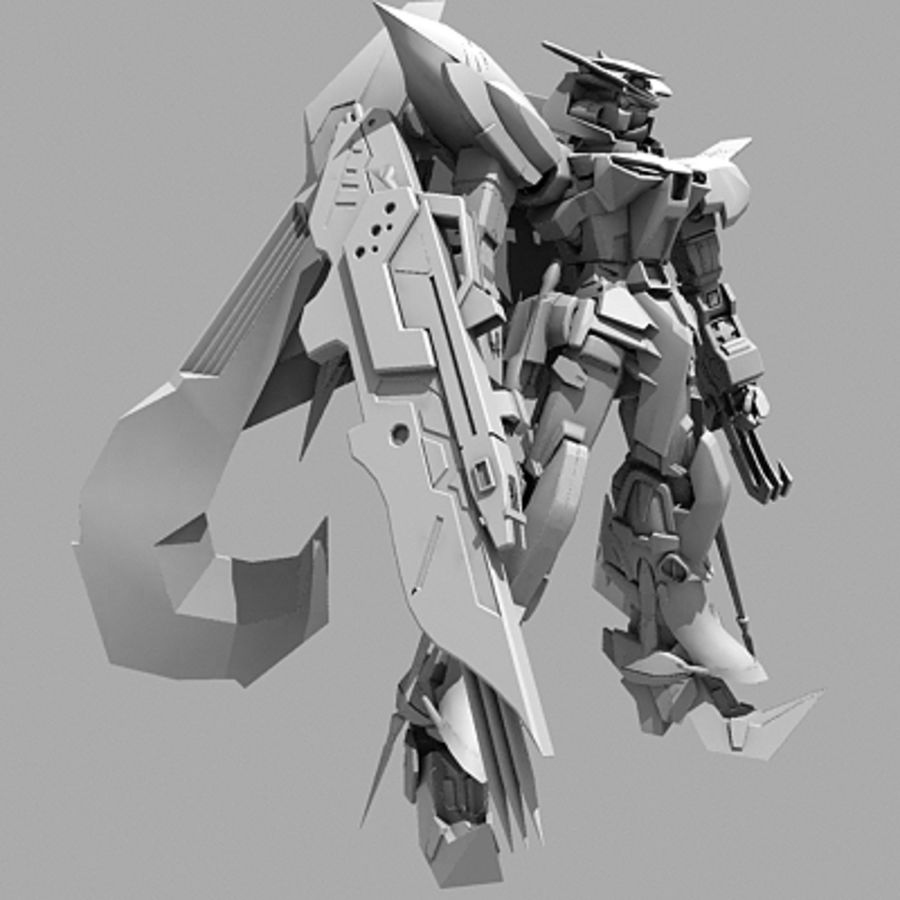 Gundam Astray gouden lijst Amatsu royalty-free 3d model - Preview no. 17
