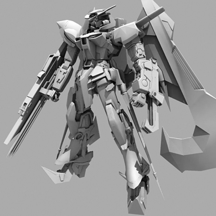 Gundam Astray gouden lijst Amatsu royalty-free 3d model - Preview no. 14