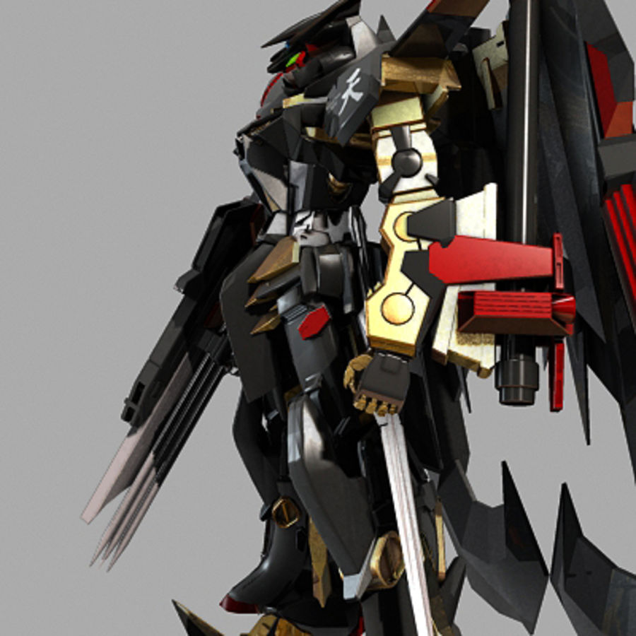 Gundam Astray gouden lijst Amatsu royalty-free 3d model - Preview no. 8