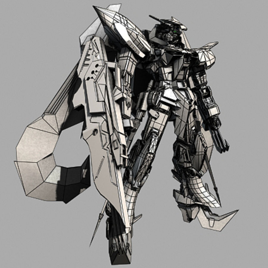 Gundam Astray gouden lijst Amatsu royalty-free 3d model - Preview no. 13