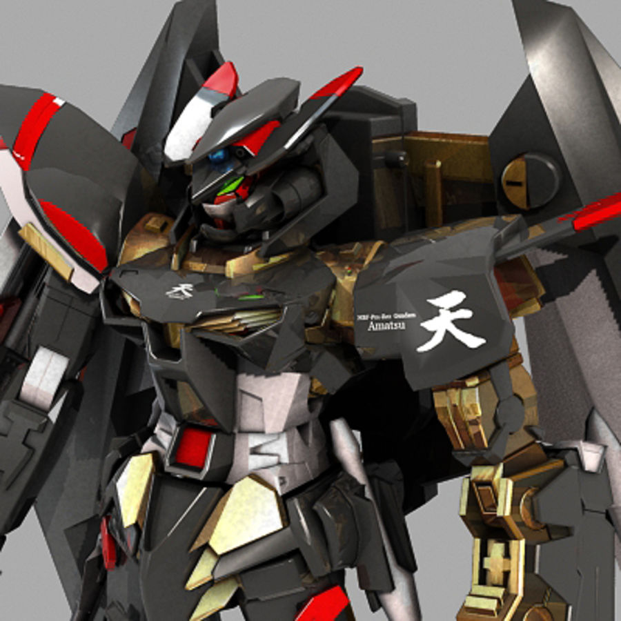 Gundam Astray gouden lijst Amatsu royalty-free 3d model - Preview no. 1