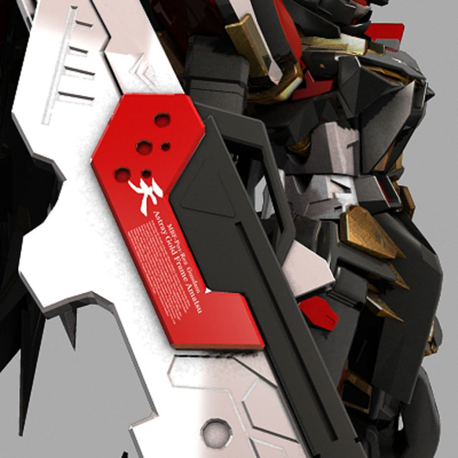 Gundam Astray gouden lijst Amatsu royalty-free 3d model - Preview no. 9