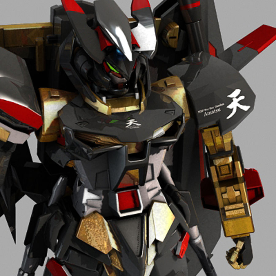 Gundam Astray gouden lijst Amatsu royalty-free 3d model - Preview no. 11