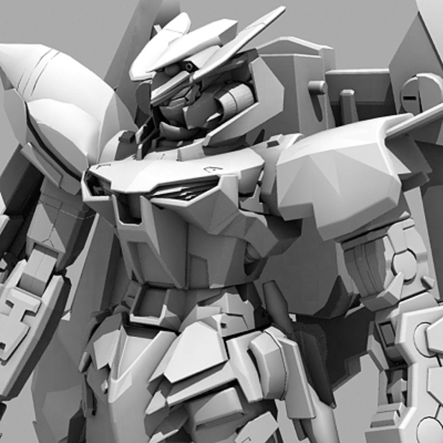 Gundam Astray gouden lijst Amatsu royalty-free 3d model - Preview no. 16