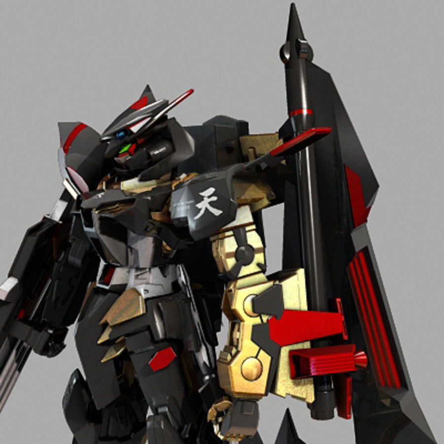 Gundam Astray gouden lijst Amatsu royalty-free 3d model - Preview no. 12