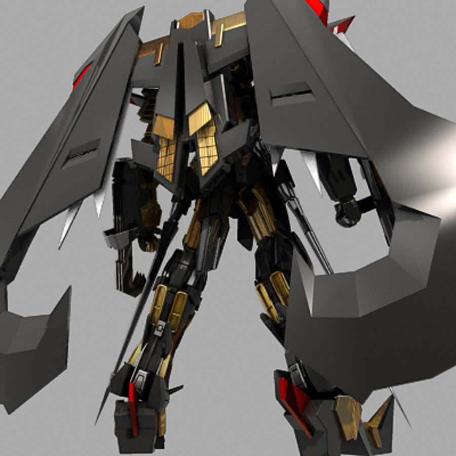 Gundam Astray gouden lijst Amatsu royalty-free 3d model - Preview no. 5