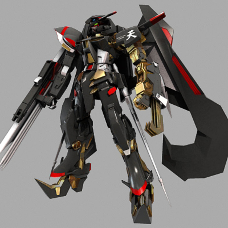 Gundam Astray gouden lijst Amatsu royalty-free 3d model - Preview no. 2