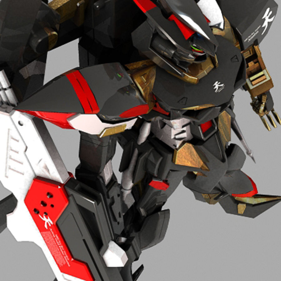 Gundam Astray gouden lijst Amatsu royalty-free 3d model - Preview no. 6