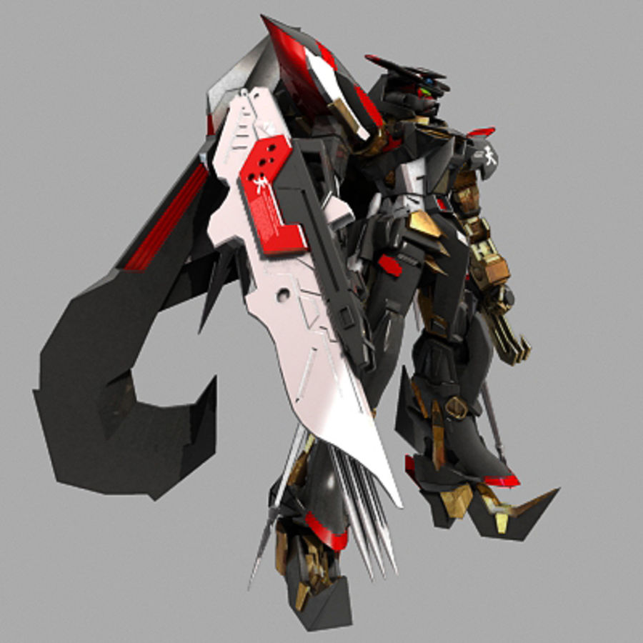Gundam Astray gouden lijst Amatsu royalty-free 3d model - Preview no. 3