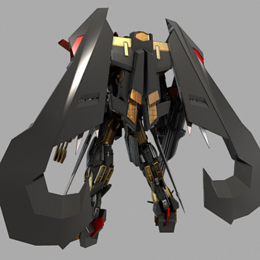 Gundam Astray gouden lijst Amatsu royalty-free 3d model - Preview no. 4
