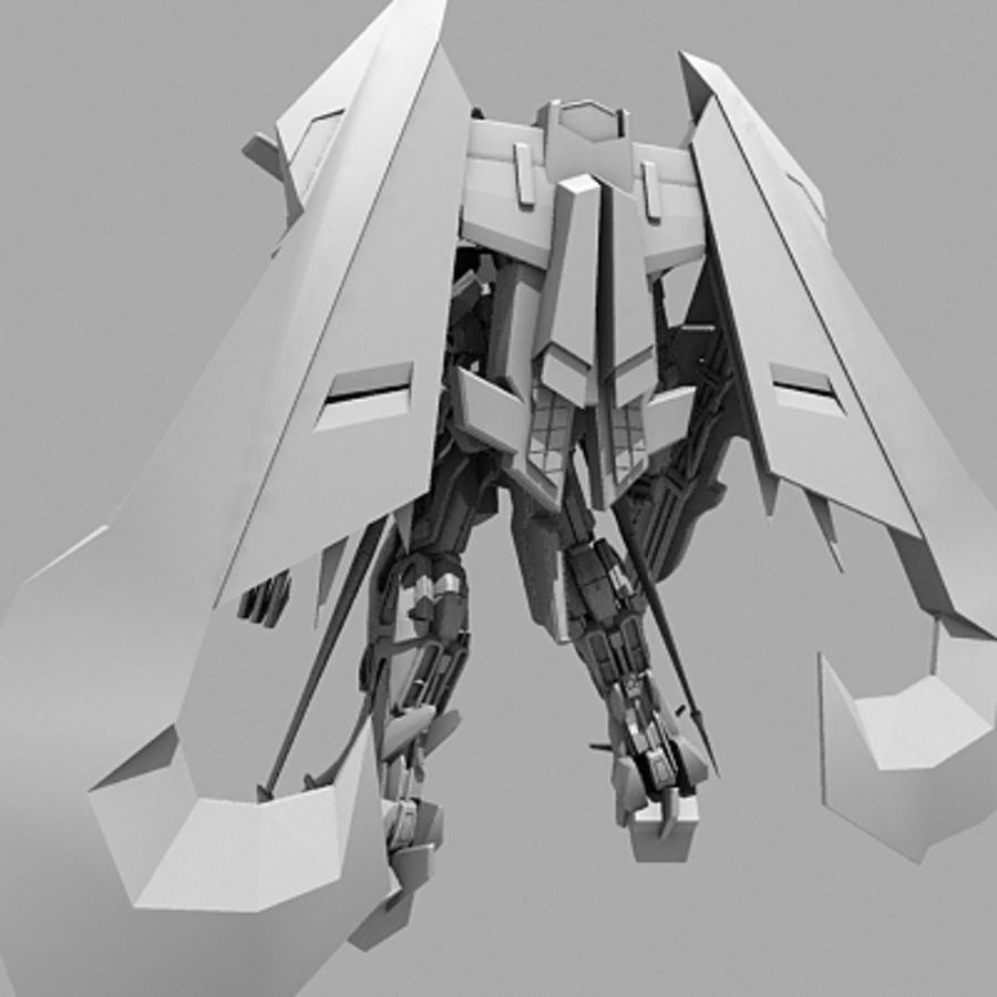 Gundam Astray gouden lijst Amatsu royalty-free 3d model - Preview no. 15
