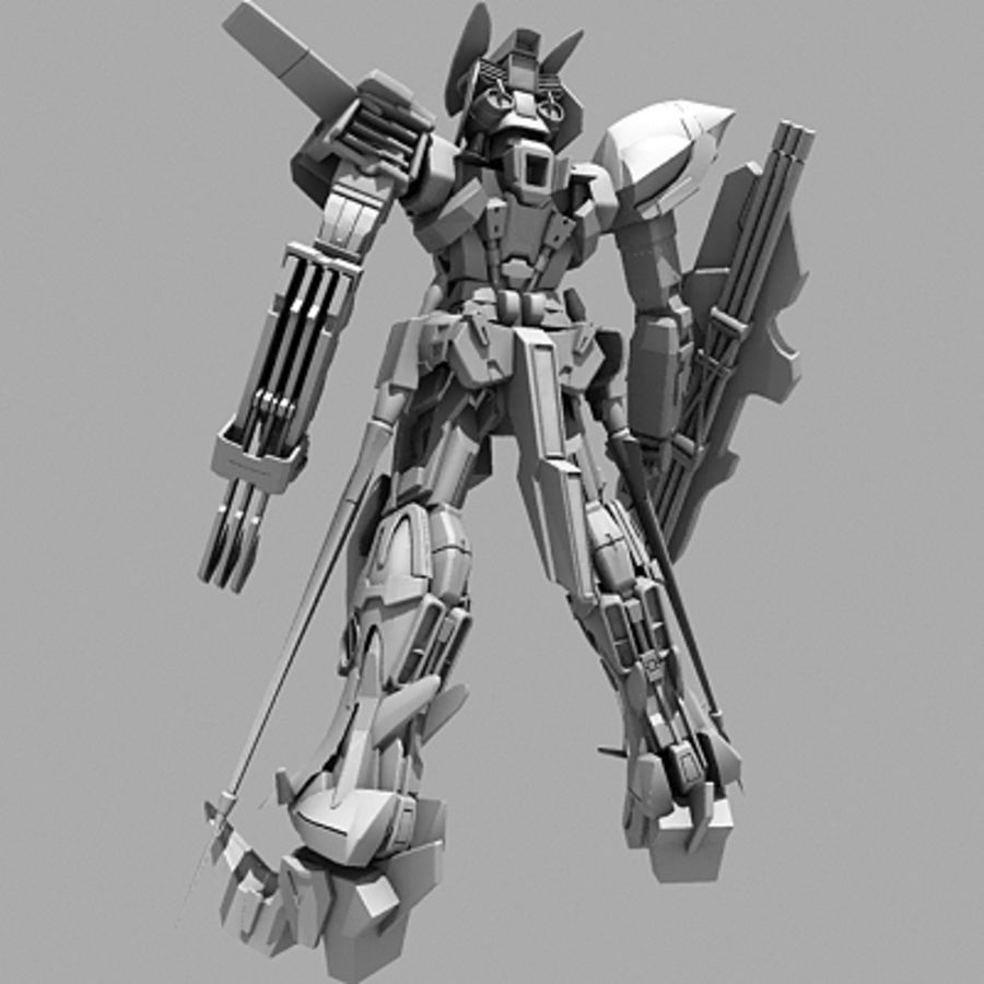 Gundam Astray gouden lijst Amatsu royalty-free 3d model - Preview no. 18