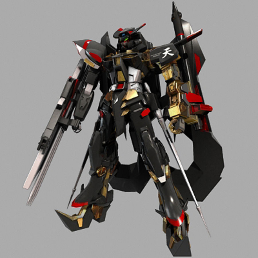 Gundam Astray gouden lijst Amatsu royalty-free 3d model - Preview no. 7