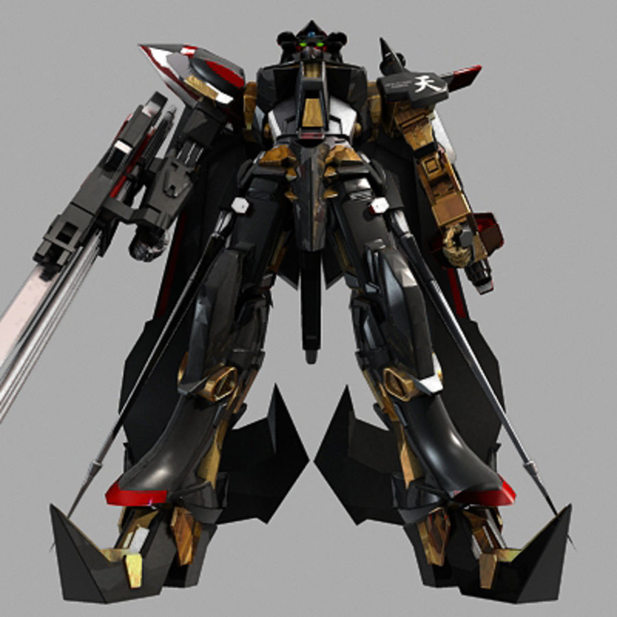 Gundam Astray gouden lijst Amatsu royalty-free 3d model - Preview no. 10