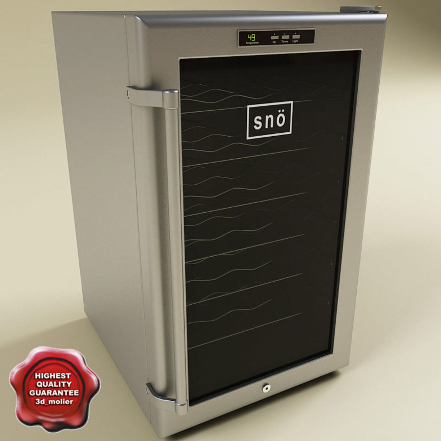 Whynter 28 Bottles Wine Cooler royalty-free 3d model - Preview no. 1