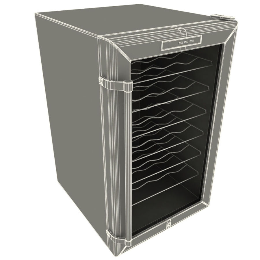 Whynter 28 Bottles Wine Cooler royalty-free 3d model - Preview no. 8