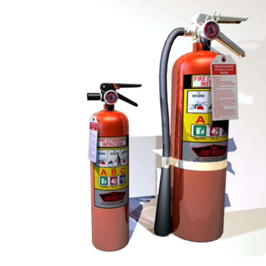 Огнетушители 02 royalty-free 3d model - Preview no. 1
