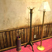 Hatrack, lamp and prop models 01 3d model
