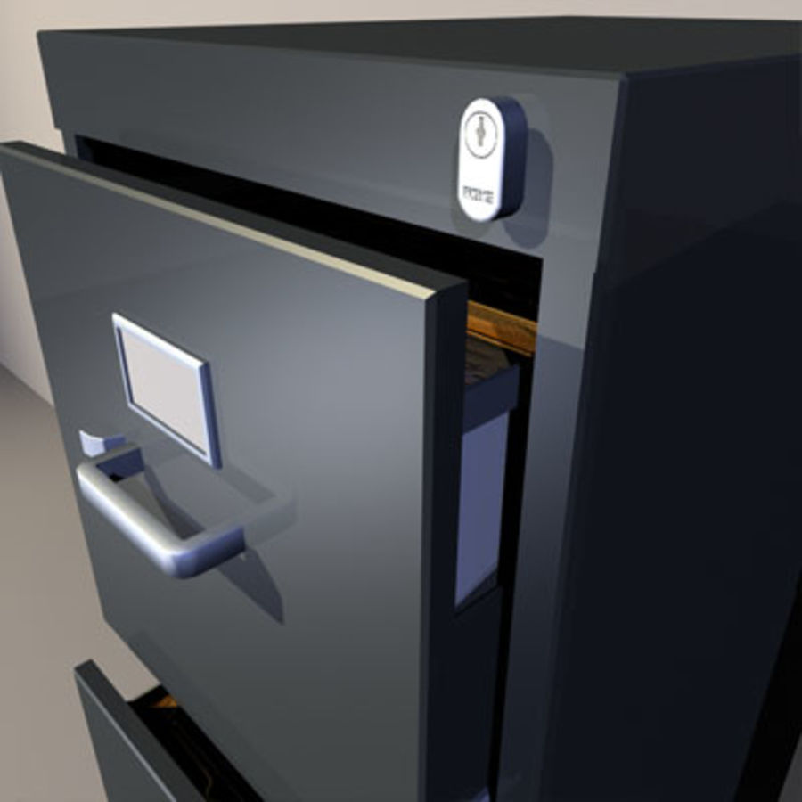 File Cabinets 02 royalty-free 3d model - Preview no. 5