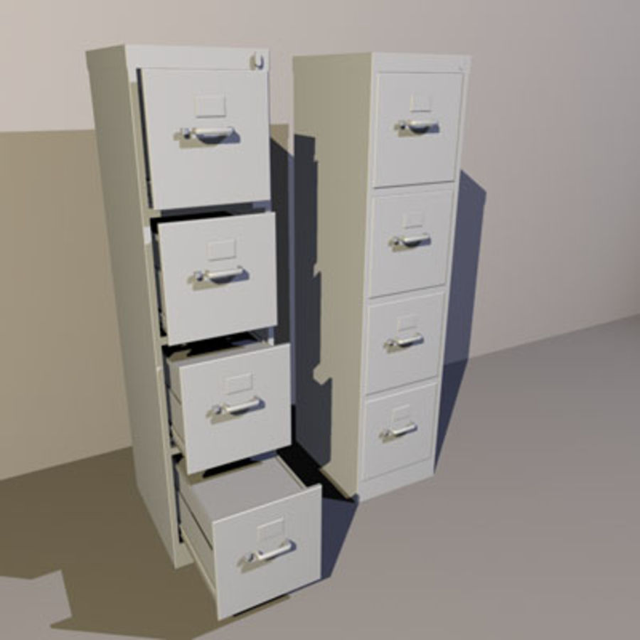 File Cabinets 02 royalty-free 3d model - Preview no. 2