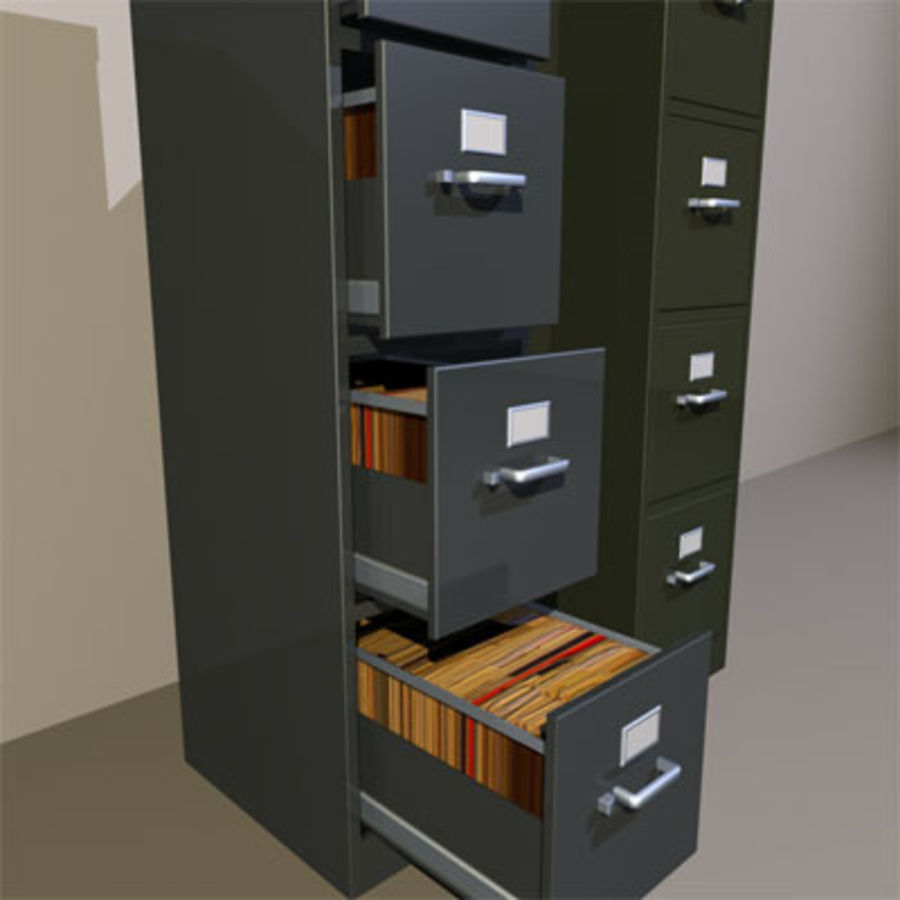 File Cabinets 02 royalty-free 3d model - Preview no. 7