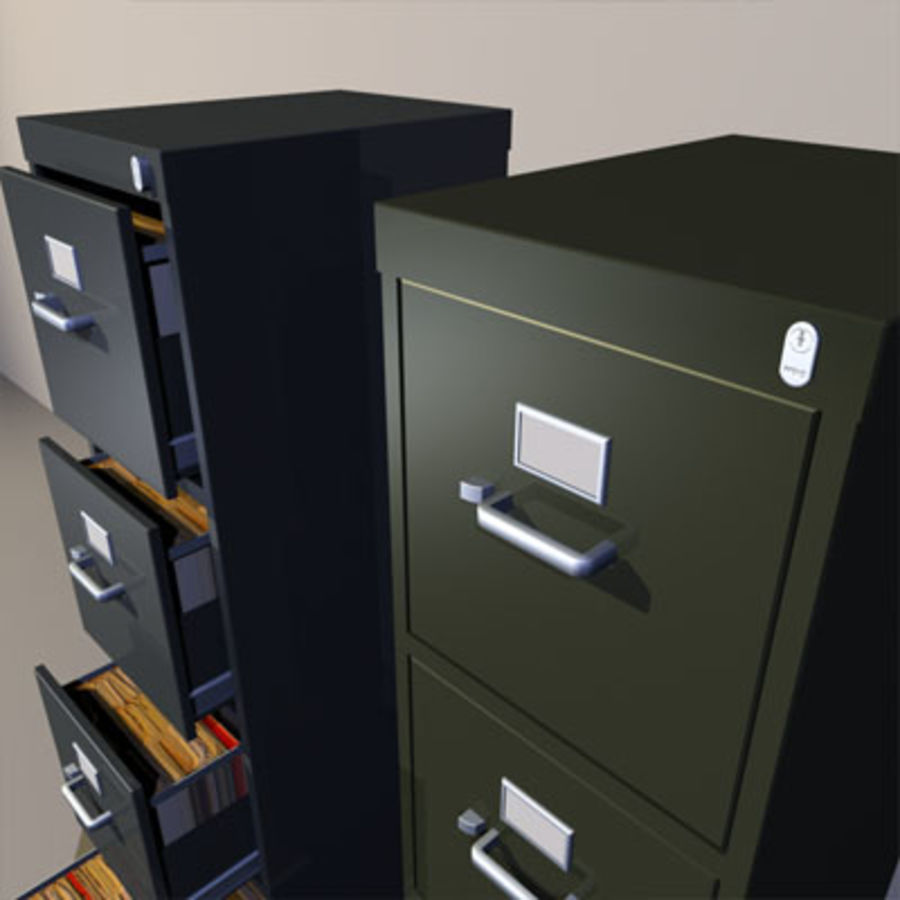 File Cabinets 02 royalty-free 3d model - Preview no. 6