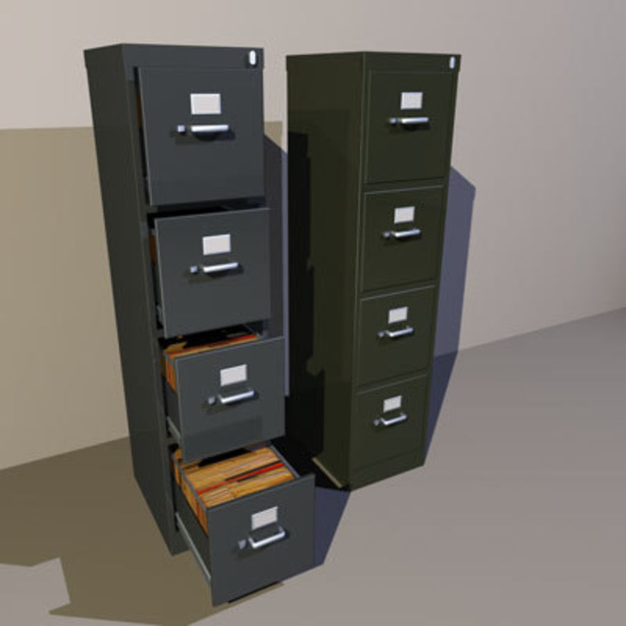 File Cabinets 02 royalty-free 3d model - Preview no. 1