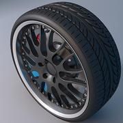 哈曼轮辋和轮胎 3d model