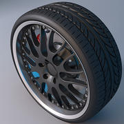 Hamann Rim and Tire 3d model