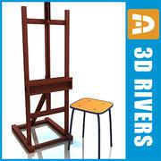 Staffelei und Stuhl von 3DRivers 3d model